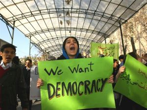 We want democrac